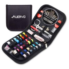 Travel Sewing Kit, AUERVO Over 70 DIY Premium Sewing Supplies,Mini Sewing kit for Home, Travel & Emergency Filled with Mending and Sewing Needles, Scissors, Thimble, Thread,Tape Measure etc: Amazon.co.uk: Kitchen & Home