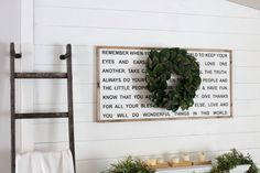 Remember when you go into the world... Framed Wood Sign