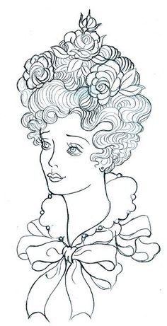 a lovely woman - embroidery pattern