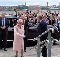 "The Royal Family on Twitter: ""The Queen and The Duke arrive @IFB2016 #QueeninLiverpool"