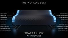 The Sunrise Smart Pillow tracks your sleep, wakes you with light, streams your favorite music, and reinvents the alarm clock.