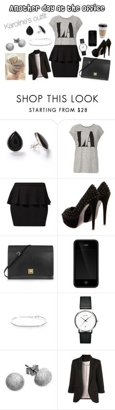 """Another day at the office"" by karolinebhn ❤ liked on Polyvore featuring Topshop, Jane Norman, Valentino, Incase, Kismet, Georg Jensen and Carolina Bucci"