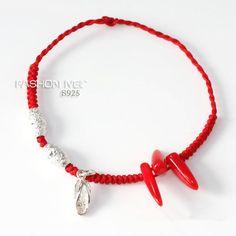 Aliexpress.com: Comprar Plata pura 925 pulsera de hilo rojo suerte ...