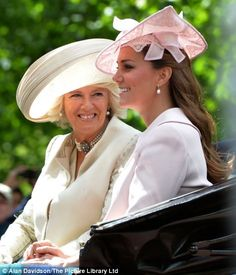 All wrapped up: Camilla the Duchess of Cornwall and Catherine the Duchess of Cambridge made sure they had a blanket to cover their knees in case the weather turned chilly  6/15/13