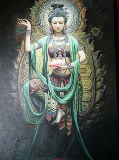 Kwan Yin is an East Asian goddess of mercy, and a bodhisattva associated with compassion as venerated byMahayana Buddhists. Mandala Nature, Ascended Masters, Guanyin, Buddhist Art, Divine Feminine, Gods And Goddesses, Chinese Art, Chinese Buddha, Compassion