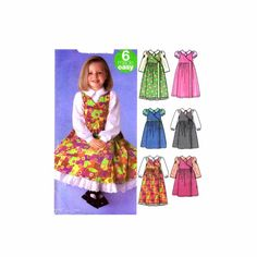 Girls Jumper Blouse Petticoat Simplicity 5319 Sewing Pattern