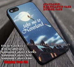 Take Me To Somewhere, Take Me To, Neverland, Peterpan, Disney Princess, case/cover for iPhone 4/4s/5/5c/6/6 /6s/6s  Samsung Galaxy S4/S5/S6/Edge/Edge  NOTE 3/4/5 #cartoon #animated #disney #peterpan ii