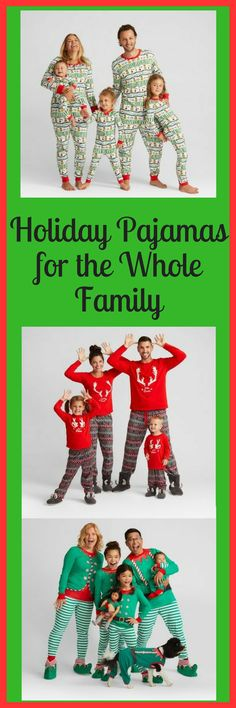 Check out these cute holiday pajamas for the whole family! Perfect for those upcoming family Holiday photo shoots or for Christmas morning! #affiliate