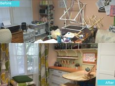 For the kitchen! - This craft room was in need of a great makeover to add storage, organization and work areas.