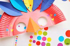 DIY un masque de carnaval plumé - children mask