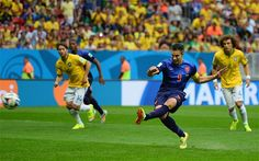 Robin van Persie - Brazil vs Netherlands, World Cup 2014: live