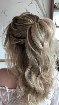 Prom Hairstyles Updos For Long Hair, Dance Hairstyles, Homecoming Hairstyles, Hairstyles For Weddings Bridesmaid, Half Up Hairstyles, Braided Wedding Hairstyles, Wedding Guest Hairstyles Long, Boho Bridesmaid Hair, Formal Hairstyles For Long Hair