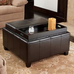 Shop for Mansfield Bonded Leather Espresso Tray Top Storage Ottoman by Christopher Knight Home. Get free shipping at Overstock.com - Your Online Furniture Outlet Store! Get 5% in rewards with Club O!