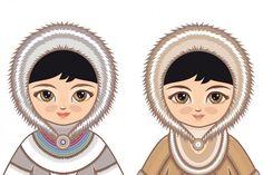 Far North. Eskimo By Zoya Miller the Far North. Eskimo By Zoya Miller Custom Invitations, Baby Shower Invitations, Princess Zelda, Disney Princess, Graphic Illustration, Disney Characters, Fictional Characters, Logo Design, Costumes