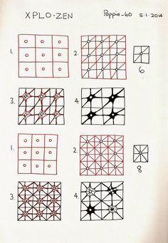 Xplo-zen.  Zentangle Pattern by Lila Popcheff (Poppie_60).