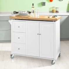 SoBuy Küchenwagen mit Edelstahltop,Küchenschrank,Rollwagen ...