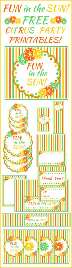 Free Citrus Summer Party Printables