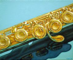 """""""Golden Flute""""  oil painting by Margaret Horvat available for purchase at www.horvatart.com. Copyright 2017 Margaret Horvat"""