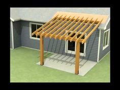 ▶ Design of a roof addition over an existing concrete patio in Bozeman, MT part 1 - YouTube