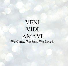 VENI VIDI AMAVI WE CAME WE SAW WE LOVED Quote International