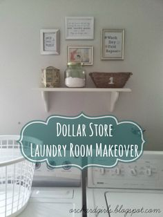 Dollar Store Laundry Room Makeover + FREE Printables