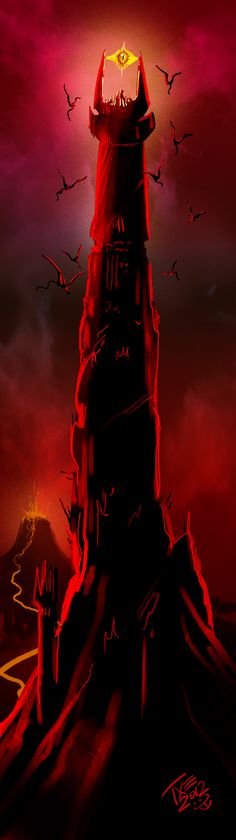 The Lord of the Rings Art - Barad-dur by themico.deviantart.com on @deviantART
