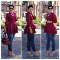 OOTD: DIY Peplum & Jeans PLUS!! Peplum Now On STITCHED 9