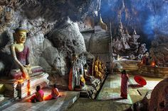 Temple near Kyaukse in the Mandalay Region.