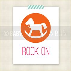 ROCK ON Art Print - Kids Room Art - Baby Children Nursery Custom Wall Print Poster. $15.00, via Etsy.