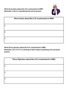 WEBQUEST-THE UNITED STATES IN WORLD WAR 1 - TeachersPayTeachers.com