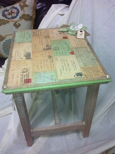 Handmade Wooden Table by shopvintageeleven on Etsy                                                                                                                                                                                 More