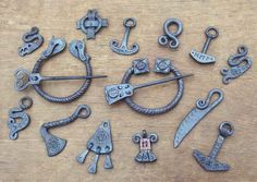 SciFi and Fantasy Art Forged Jewelry 1 by Mikko S. Anttonen - great for a Renaissance faire