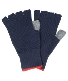 Mens Barbour Canna Lambswool Gloves - Navy