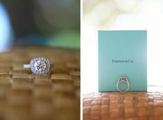 Beautiful Tiffany and Co. engagement ring.  Photo by Aaron Snow Photography.