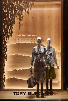 a488fa1140 Tory Birch - London Retail Windows, Store Windows, Aw17, Visual  Merchandising, Tory
