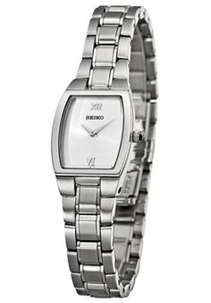 Seiko Women's SUJE83 Dress Silver-Tone Watch * You can find more details by visiting the image link.