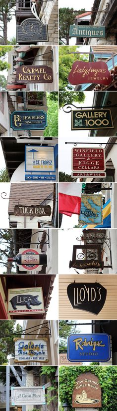 store signs in downtown Carmel-by-the-sea