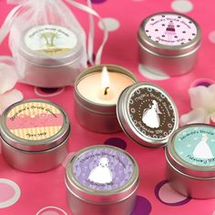 Adorable Wedding Favor Candles