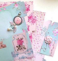 Personal Filofax dividers. Custom printed tab labels Laminated .Charm included