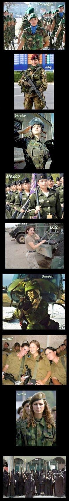 mujeres ejércitos