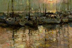 """Pearl Berth, 16"""" x 24"""", Oil painting"""