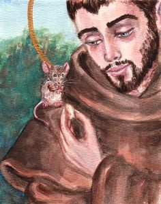 St. Francis and the Mouse by LordShadowblade.deviantart.com on @deviantART
