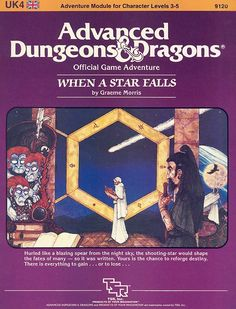 UK4 When a Star Falls (1e) | Book cover and interior art for Advanced Dungeons and Dragons 1.0 - Advanced Dungeons & Dragons, D&D, DND, AD&D, ADND, 1st Edition, 1st Ed., 1.0, 1E, OSRIC, OSR, Roleplaying Game, Role Playing Game, RPG, Wizards of the Coast, WotC, TSR Inc. | Create your own roleplaying game books w/ RPG Bard: www.rpgbard.com