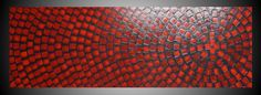 Red and Grey wall art Abstract Acrylic Painting by acrylkreativ
