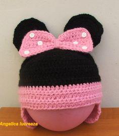 Crochet Minnie Mouse hat. Crochet Minnie Mouse Hat, Crochet Clothes, Crochet Hats, Corset, Fashion, Knitting Hats, Moda, Bustiers, Fashion Styles