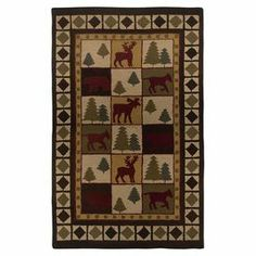New Zealand wool-blend rug with a wildlife motif. Hand-tufted in India.  Product: RugConstruction Material: New Zealand wool blendColor: BrownFeatures:  Hand-TuftedMade In IndiaInspired by the distinctive styling of Native American art and textiles  Note: Please be aware that actual colors may vary from those shown on your screen. Accent rugs may also not show the entire pattern that the corresponding area rugs have.Cleaning and Care: Vacuum regularly and spot clean