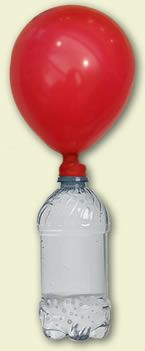 Demonstrate the states of matter by building a fizz inflator. This a a fun experiment for a unit on states of matter. You combine vinegar (liquid) and baking soda (solid) to create a gas (carbon dioxide), which blows up the balloon. Before the experiment, have students make a prediction and write a hypothesis. After the experiment, have kids draw and label the parts of the fizz inflator (solid, liquid, gas) in their science notebook. Visit Science Bob to see basic fizz inflator instructions.