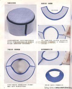 Шляпы, шапочки и береты. Шьем сами. Отличный японский журнал (28) (564x700, 242Kb)