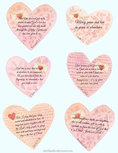 Valentine Scripture Blessings for the whole year long! Enjoy!