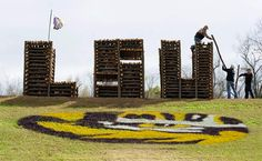 A St. James Christmas bonfire for Tigers. #LSU